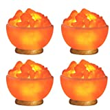 Indus Classic Himalayan Rock Crystal Fire Bowl Salt Lamps Natural Ionizer