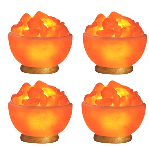 Indus Classic Himalayan Rock Crystal Fire Bowl Salt Lamps Natural Ionizer by Indus Classic