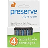 Preserve: Razor Triple Blades, 4 ct
