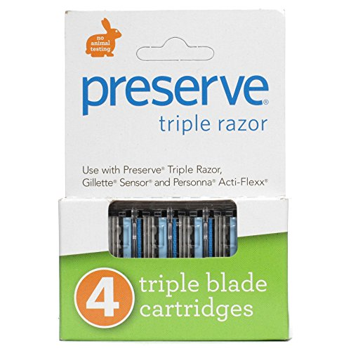 Preserve PRE-5091P2 Triple Razor Replacement Blade, 4-Pack. This multi-pack contains 2 packs.