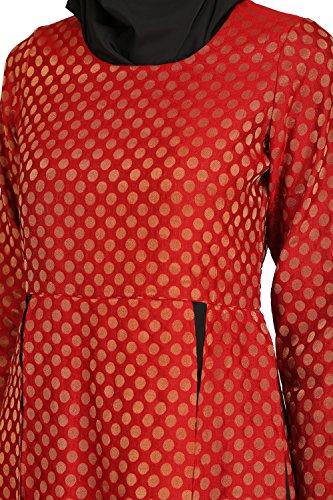 burqa AY abaya abito nero MyBatua amp; rosso amp; abiti party 531 abito occasione qCPzwR0