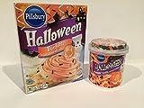 Pillsbury Halloween Funfetti Sugar Cookie Mix with Candy Bits, 17.5 oz AND Halloween Funfetti Frosting Vanilla w/Sprinkles