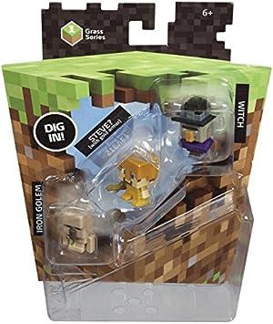 Mattel - Pack 3 Minifiguras Minecraft , color/modelo surtido: Amazon.es: Juguetes y juegos