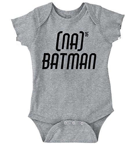 Na Batman Funny Shirt Theme Song DC Comic Nerd Geek Hero Gift Romper (Girls Batman Onesie)
