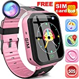 Kids Smart Watch Phone with Free SIM Card Outdoor Waterproof Activity GPS Tracker for 3-14 Girl Boy...