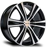 ASPEN, 18X8, 5X114.3/127, 35, 73.1, BLACK MACHINED SET OF 4 081830