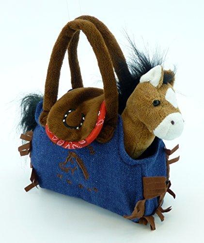 My Cuddly Pony I Love My Horse Bay Plush Pony and Denim Purse