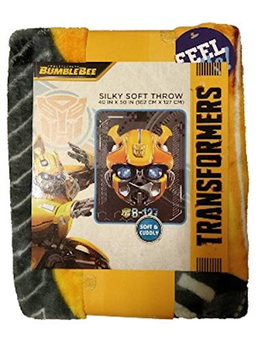 Transformers Bumblebee Silky Soft Throw Blanket (Transformers Blanket Throw)