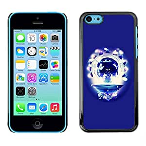 Paccase / SLIM PC / Aliminium Casa Carcasa Funda Case Cover para - Party Skull - Apple Iphone 5C