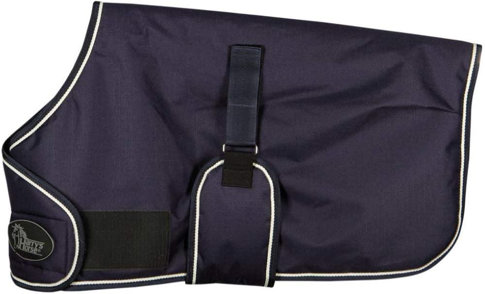 Reitsport Amesbichler Harry`s Horse - Manta para Caballo (con Banda de Velcro Ajustable, sin Costuras, Impermeable, Transpirable), Color Azul Oscuro