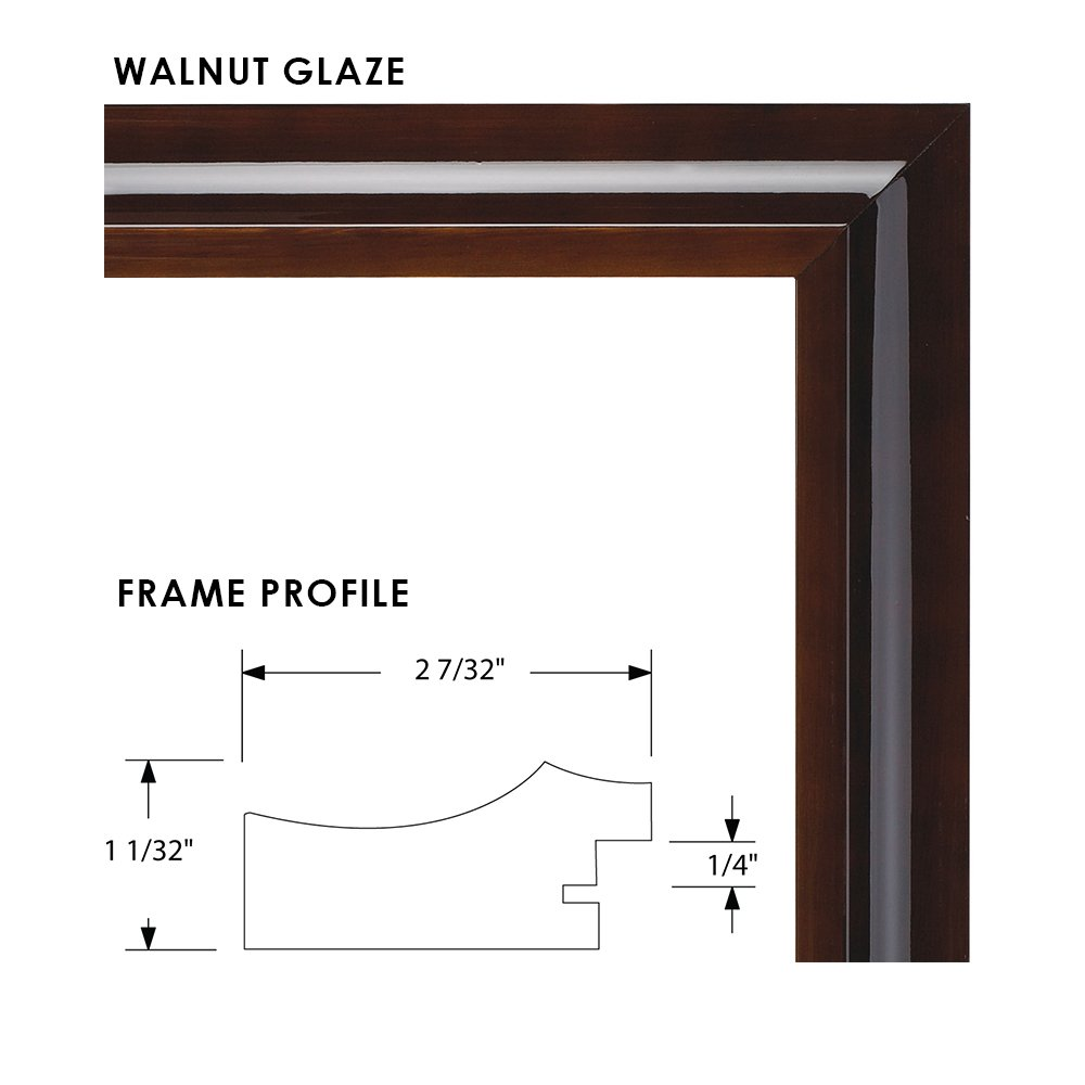 UV Glazed Glass and Anti Aging Liner Artcare 12x15 Hampton Collection Walnut Glazed Archival Quality Wood Document Frame With Single Warm White Mat For 8.5x11 Document or Image #B0083GTTH8 Includes