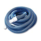 Pool Central 32757666 21' Blue Spiral Wound Eva Vacuum Hose Cuffs, White