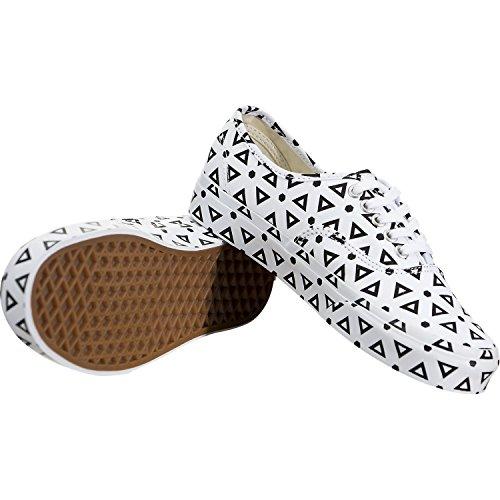 Vans Hombres Authentic (mono Print) Geo Skateboarding Zapatos