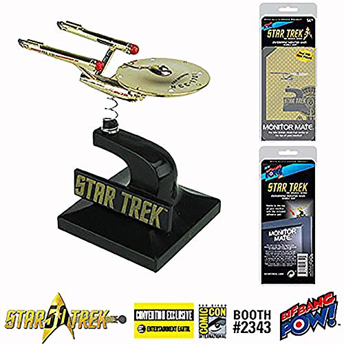 Star Trek 2016 SDCC Entertainment Earth Exclusive Monitor Mate Real 24K Gold Plated U.S.S. Enterprise Mini Bobble Head