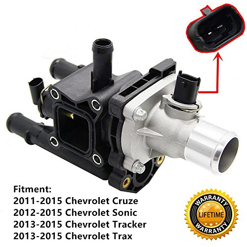 1.8L Engine Coolant Thermostat Housing Assembly for 2012-2015 Chevrolet Sonic,2013-2015 Chevrolet Trax Tracker,2011-2015 Chevrolet Cruze - Replaces # 25192228 25192228 55575048 (Engine Housing)