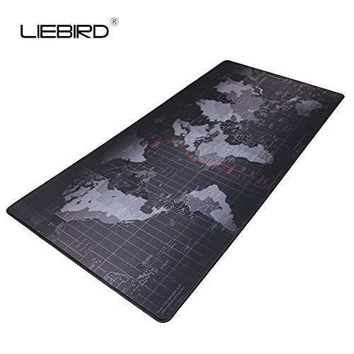 "LIEBIRD Extended Xxl Gaming Mouse Pad - Portable Large Desk Pad for Laptop - Non-slip Rubber Base (XXL- 35.4""x15.7""x2.5mm)"