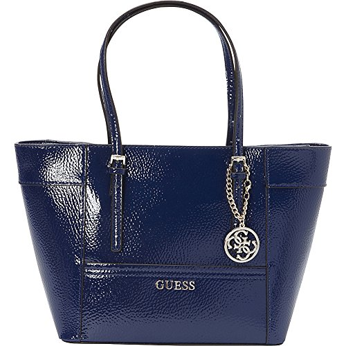 GUESS Delaney Classic Tote Patent Sapphire
