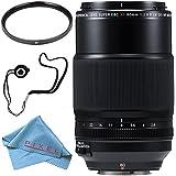 Fujifilm XF 80mm f/2.8 R LM OIS WR Macro Lens #16559168 + 62mm UV Filter + Fibercloth + Lens Capkeeper Bundle