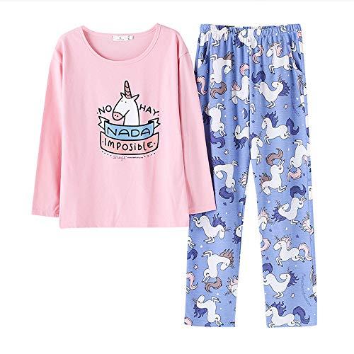 Ragazza Casual Pigiama Donna Collar Color Suit Photo Pink Carino Cotton Set Comfort 2 Pigiama Round Cartoon Pezzi Set Meaeo qvOZ6Spxp