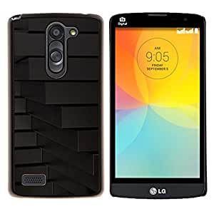 Qstar Arte & diseño plástico duro Fundas Cover Cubre Hard Case Cover para LG L Prime D337 / L Bello D337 (Líneas abstractas Geometría)