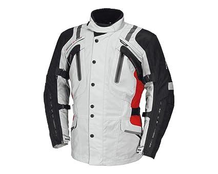 IXS Nimrod Motorcycle Jacket GreyBlackRed: Amazon.co.uk