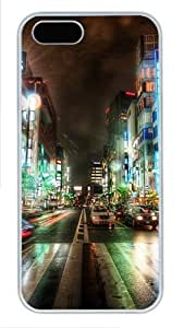 Street Lighting Custom Hard Case Cover for iPhone 5s and iPhone 5 - Polycarbonate - White