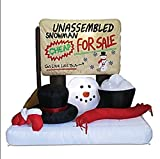 CHRISTMAS INFLATABLE UNASSEMBLED SNOWMAN WHIMSICAL OUTDOOR HOLIDAY DECORATION