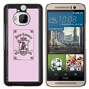 YiPhone /// Prima de resorte delgada de la cubierta del caso de Shell Armor - rosado divertido comodín cachorro poker rosa - HTC One M9Plus M9+ M9 Plus