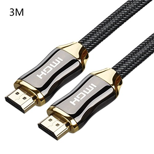 Ultra HD 4K 3D 2160p HDMI Cable 300cm - Kobwa HDMI 2.0 Gold Plated Connectors Ethernet / Audio Return Channel 30AWG High Speed 18Gbps Braided Cord