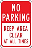 Accuform Signs FRP168RA Engineer-Grade Reflective Aluminum Parking Sign, Legend