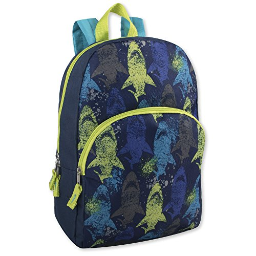 Super Popular Boys & Girls Backpack for School, Summer Camp, Travel and Outdoors! (Blue Shark)