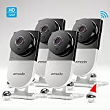 Zmodo 720p HD Wireless Home Surveillance Camera System – 4 Cameras with Night Vision and Two-way Audio