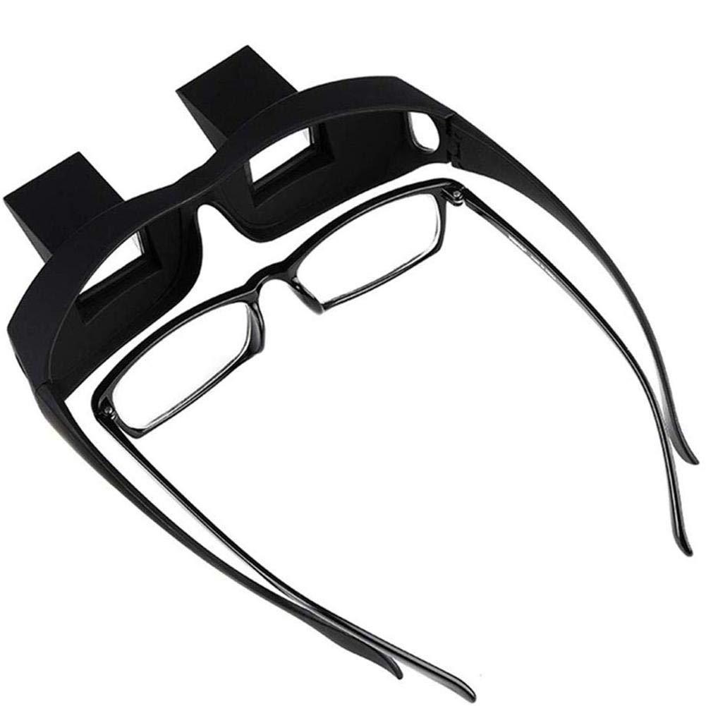 Greatideal Lazy Glasses Liegendes Bett Horizontale Brille Horizontale Brille Lazy Prism Eye Glasses zum Fernsehen und Lesen