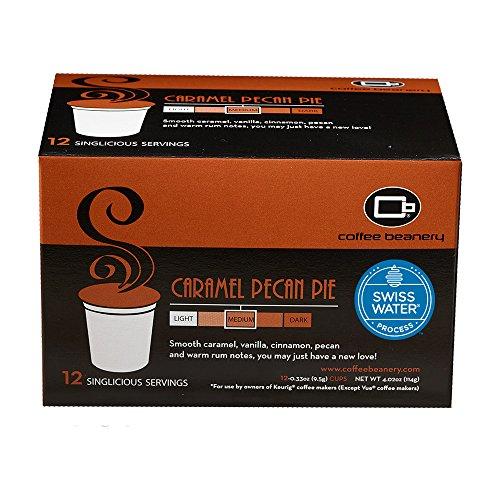 Coffee Beanery Caramel Pecan Pie SWP Decaf Singlicious Servings Single-cup Coffee Pack Sampler for Keurig K-cup Brewers