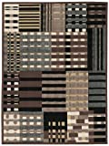 """Nourison Modesto (MDS20) Grey Rectangle Area Rug, 3-Feet 11-Inches by 5-Feet 3-Inches (3'11"""" x 5'3″) For Sale"""