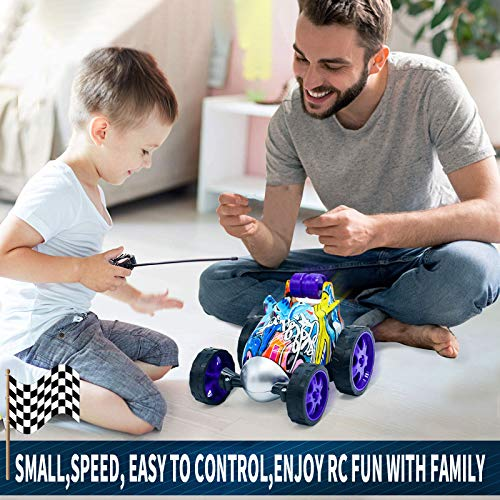 Remote Control Car for Boys Girls - Rc Stunt Car Toy with Spins and Flips & 360 Degree Rotation, Mini Size|Fast Speed & More Fun|Easy to Use for Kids
