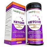 HealthyWiser Ketone Test Strips 150ct + BONUS Alkaline Food Chart PDF, Professional Grade Ketone Strips for Use in Atkins Diet, Ketogenic Diet, and Paleo Diet, Urinalysis Test Strips 99% Accuracy