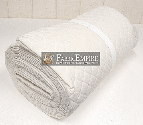 - Muslin Fabric Natural Single Face Quilted Diamond 42/43