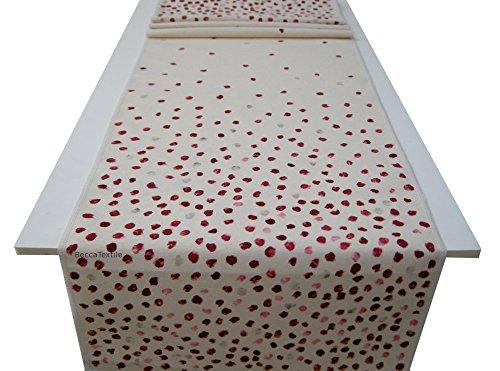 Camino de mesa con puntos rojos,Manteles modernos, BeccaTextile ...