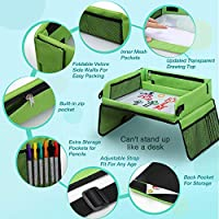 Stroller Bonus Educational Drawing Paper Set SGerste Snack /& Play Travel Tray with Dry Erase Top /& 16 Mesh Pockets Plane Premium Child Play Tray Baby Car Seat Tray for Car