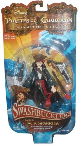 Zizzle Pirates of the Caribbean Dead Men Tell No Tales 5 Inch Swashbucklers Action Figure Jack Sparrow (Zizzle Pirate)