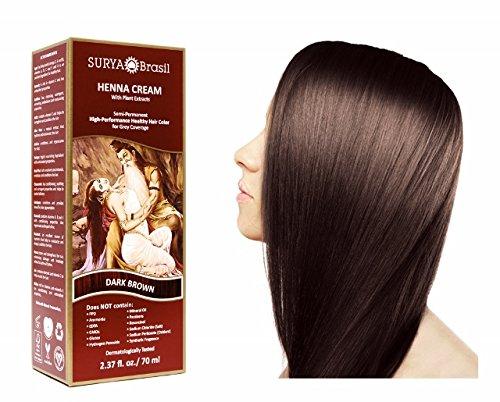 SURYA Brasil - Henna Haarfarbe Creme, dunkelbraun, 1x70ml