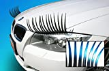 Carlashes Ombre Shaded Blue Car Eyelashes, Special Edition, Hand Airbrushed Bright Candy Color Tips, Ladies Fashion, Girly Car Accessory, Miles of Smiles, Make People Smile