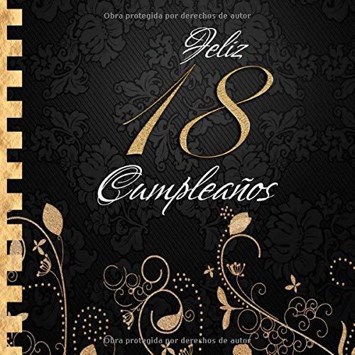 Feliz 18 Cumpleaños: Libro de Visitas I Elegante ...