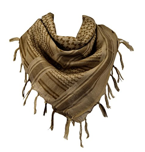 100% Cotton Military Shemagh Arab Tactical Desert Keffiyeh Scarf Wrap for Women Men 43''x43'' by VOCHIC