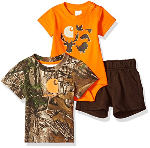 (Carhartt Baby Boys Sets, Mustang Brown, 18M)