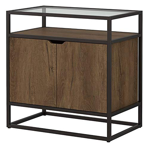 Bush Anthropology Record Player Stand with Storage in Rustic Brown ()