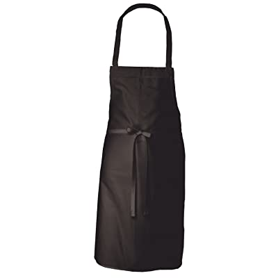 Chefs Kitchen Apron, Black Bib Apron