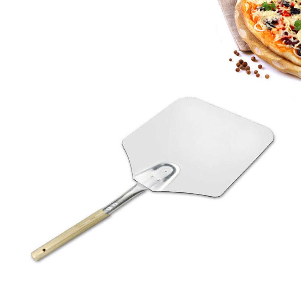 Ocamo 9x11 Inch Pizza Shovel Wooden Handle Aluminum Kitchen Oven Paddle Tray Baking Accessories