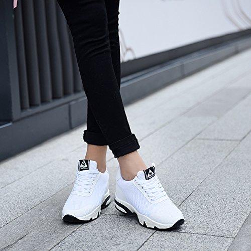 Bianco Donna Nero Interna Tennis 8 Rosso Bianco Scarpe Sneakers Ginnastica LILY999 Tacco Fitness Zeppa da Sportive Zeppa cm Zx5WFn